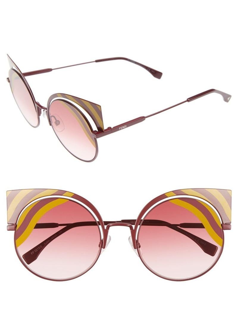 3a92de88c6a5 Fendi Fendi Hypnoshine 53mm Cat Eye Sunglasses