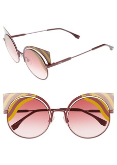 Fendi Hypnoshine 53mm Cat Eye Sunglasses