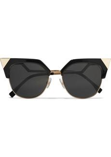 Iridia cat-eye gold-tone and acetate sunglasses