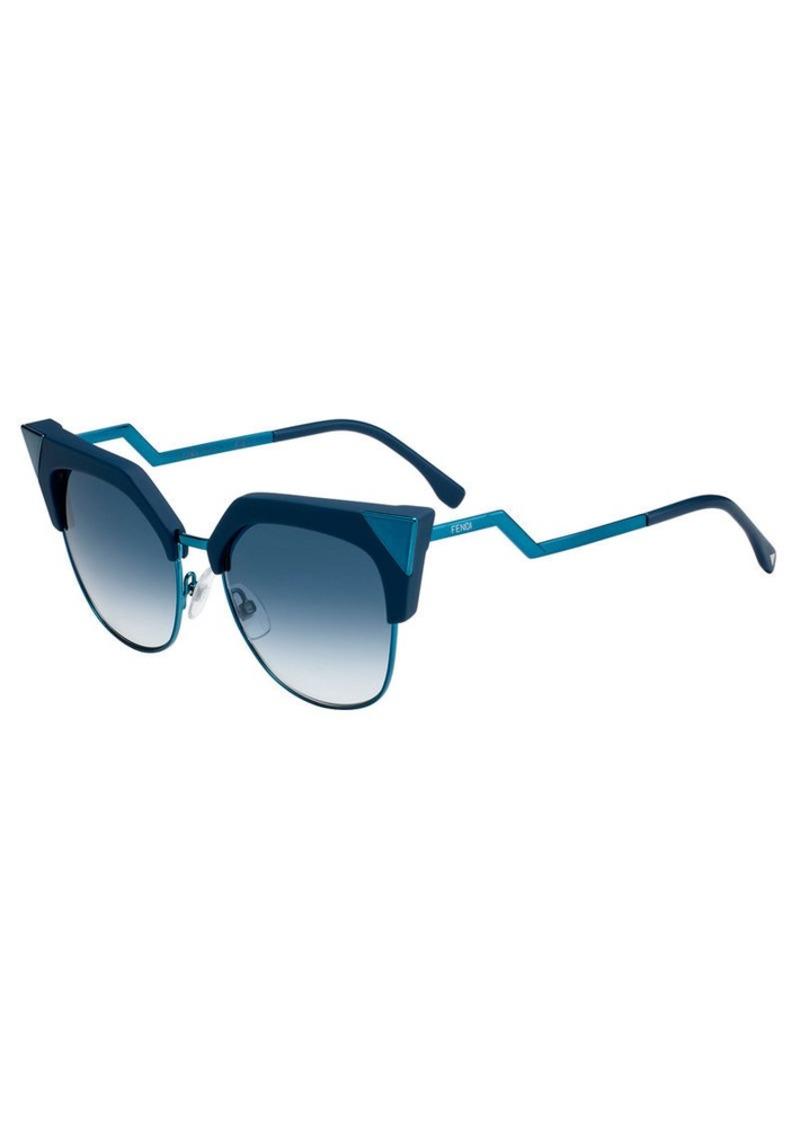 e0e20c3a1119 Fendi Fendi Iridia Mirrored Cat-Eye Sunglasses
