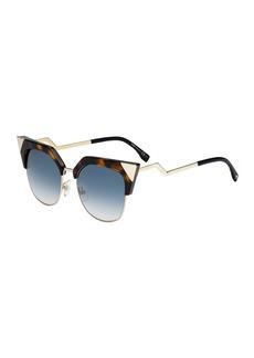 ae114f4dca Fendi Iridia Mirrored Cat-Eye Sunglasses