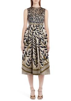 Fendi Jacquard Fit & Flare Dress