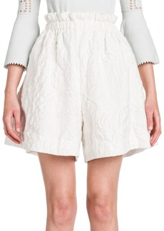 Fendi Jacquard High-Waist Shorts