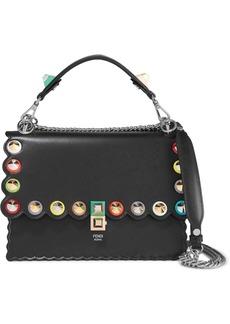 Fendi Kan I Embellished Leather Shoulder Bag