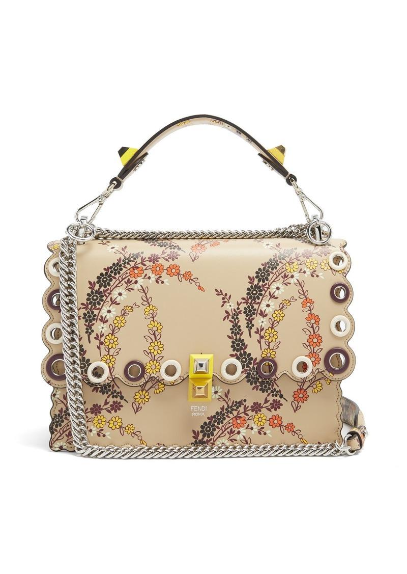 b7ae7fc0b6 ... norway fendi kan i floral print leather shoulder bag ff119 6e1ec
