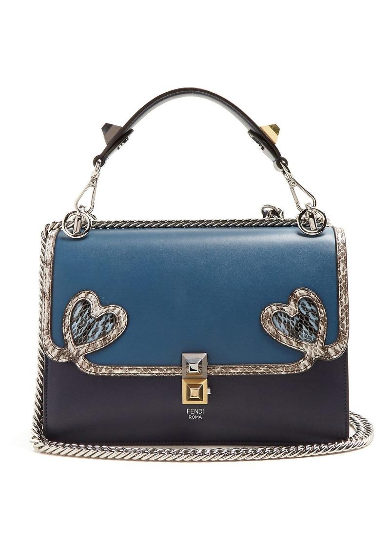 Fendi Fendi Kan I heart-detail leather shoulder bag  eb1cea308f262
