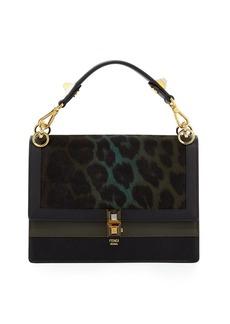Fendi Kan I Leopard Print Calf Hair Bag