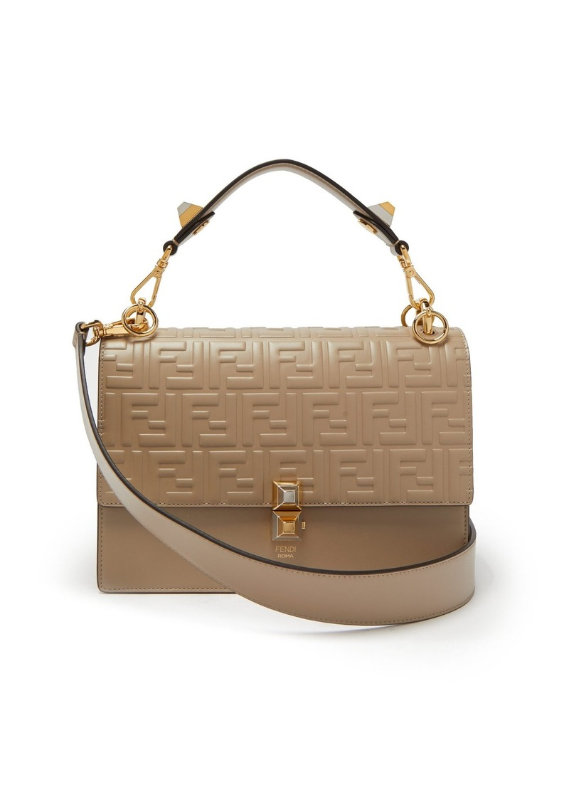 964734fd3e7 Fendi Fendi Kan I logo-embossed leather shoulder bag