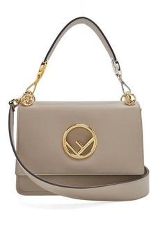 Fendi Kan I Logo leather shoulder bag