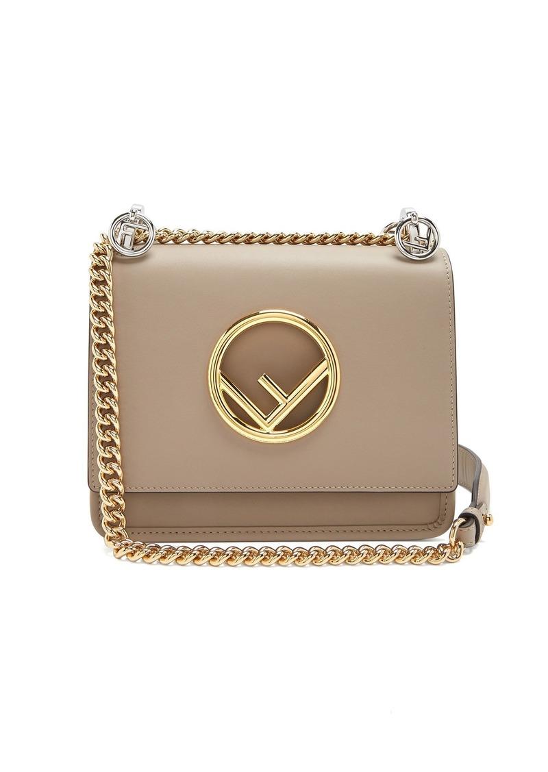 53a75d229712 Fendi Fendi Kan I Logo small leather cross-body bag