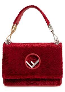 Fendi Kan I Logo Velvet Shoulder Bag
