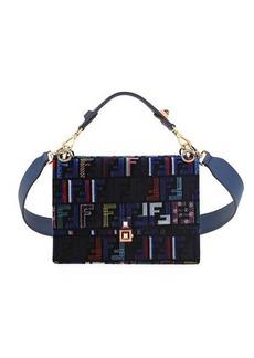 Fendi Kan I Medium Velvet Shoulder Bag