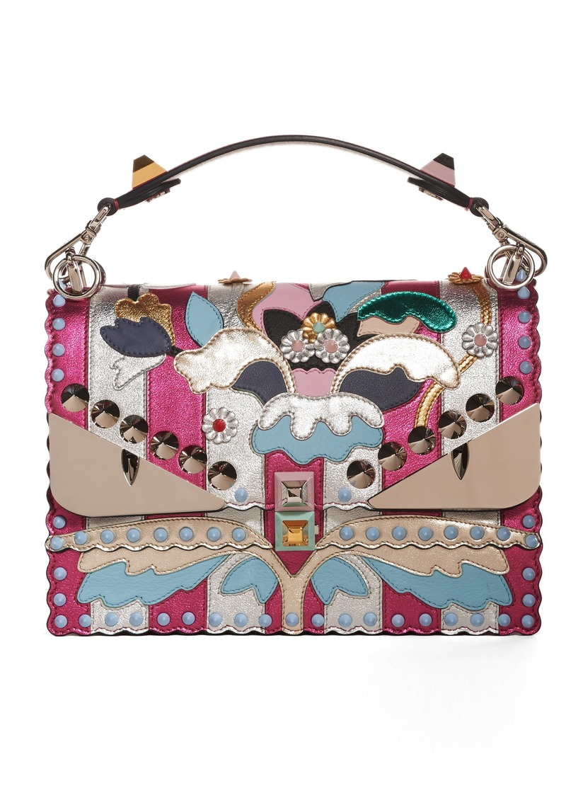 f12c55aa25ca Fendi Fendi Kan I Metallic Monster Shoulder Bag