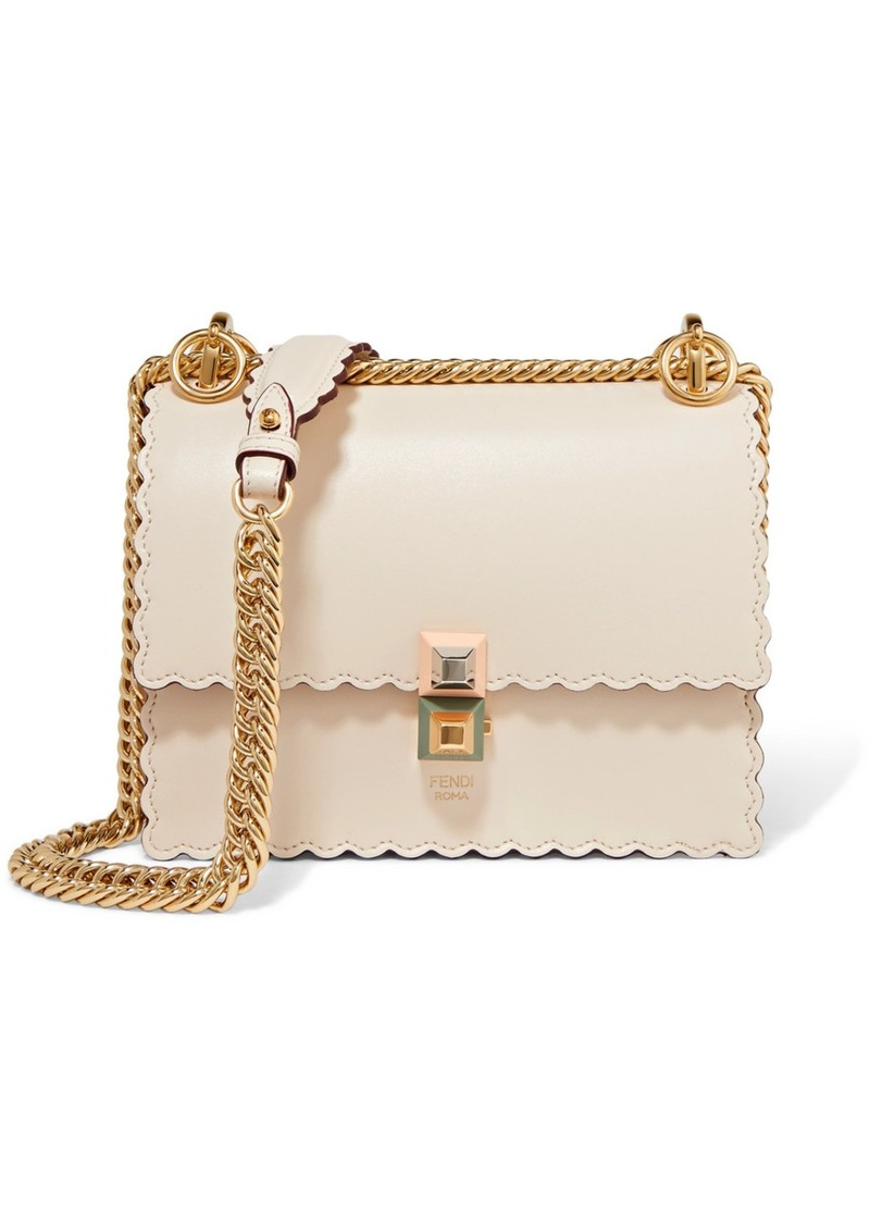 0305d4f6b8c3 Fendi Kan I Mini Scalloped Leather Shoulder Bag