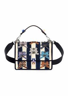 Fendi Kan I Pequin Watercolor Shoulder Bag  Blue/Pink