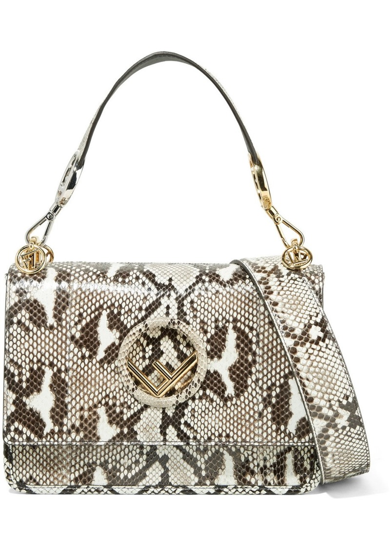 5a8b4ccd55 Fendi Kan I Python Shoulder Bag