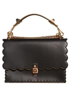 Fendi Kan I Scallop Leather Shoulder Bag