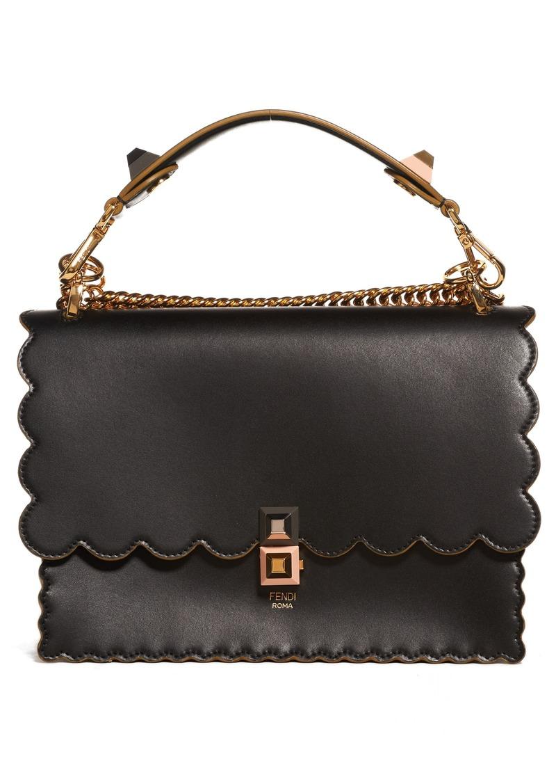 95089ea5e764 Fendi Fendi Kan I Scallop Leather Shoulder Bag