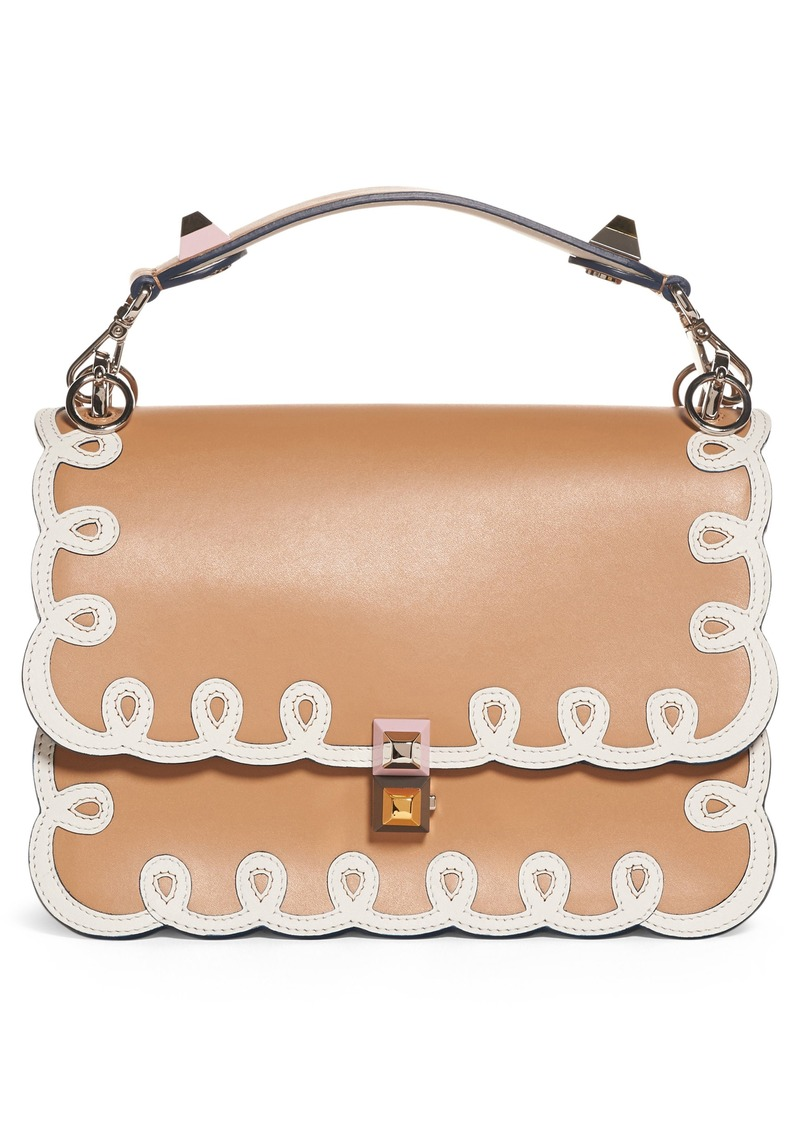 72372e46cd Fendi Fendi Kan I Scalloped Leather Shoulder Bag