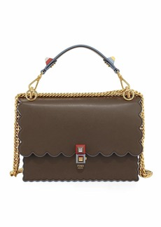 Fendi Kan I Scalloped Leather Top-Handle Bag