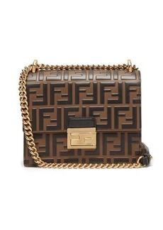 Fendi Kan I small FF-embossed leather cross-body bag