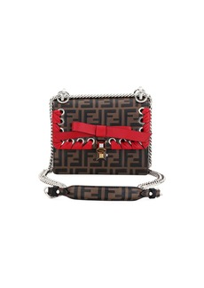 Fendi Kan I Small FF Embossed Shoulder Bag with Ribbon