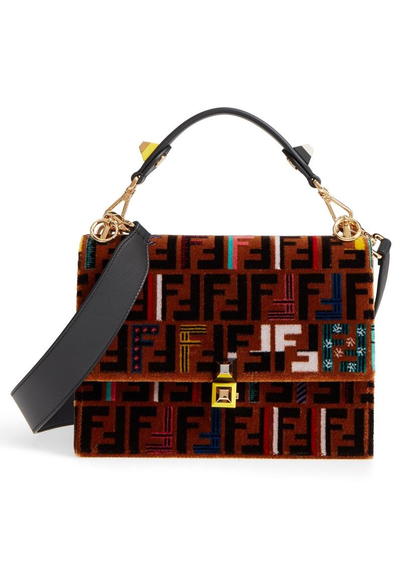 Fendi Kan I Tetino Velvet Shoulder Bag