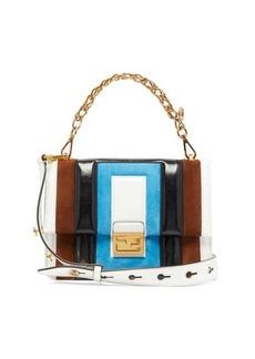Fendi Kan U medium leather and suede cross-body bag
