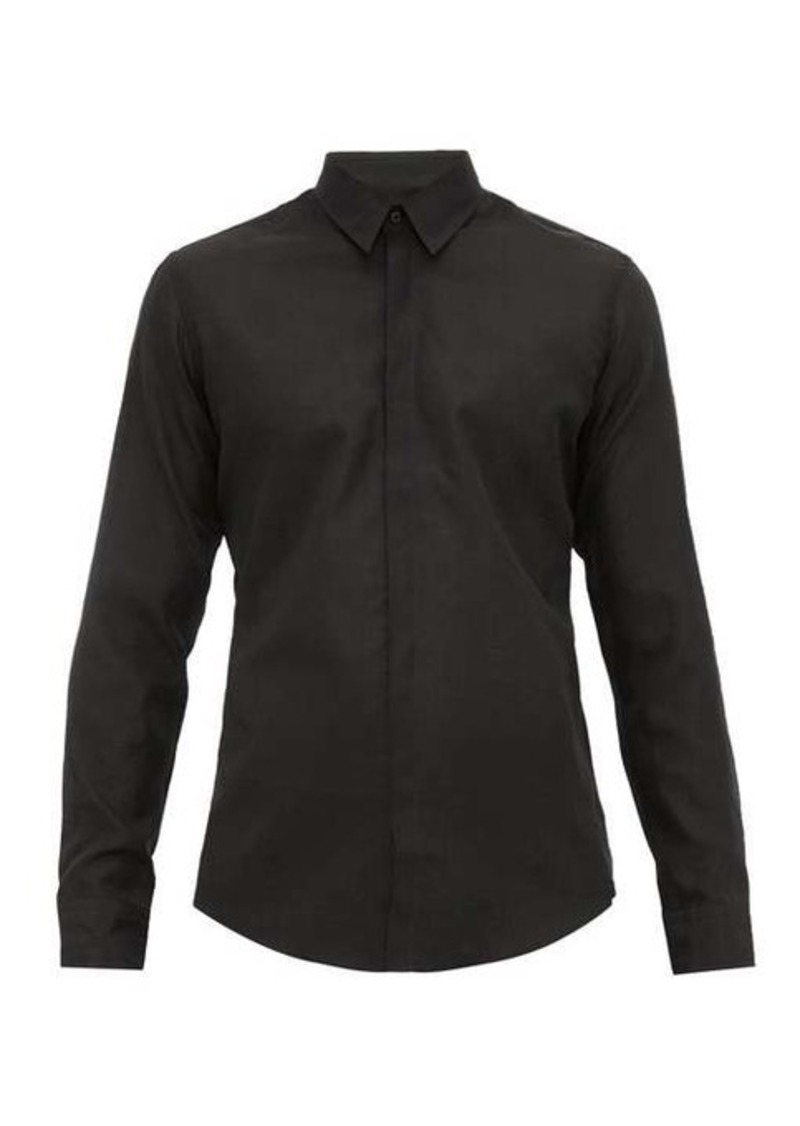 Fendi Karligraphy-embroidered cotton-blend shirt
