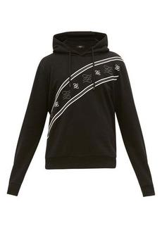 Fendi Karligraphy-embroidered cotton hooded sweatshirt