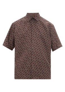 Fendi Karligraphy short-sleeved silk shirt