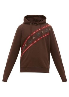 Fendi Karligraphy striped cotton-jersey sweatshirt