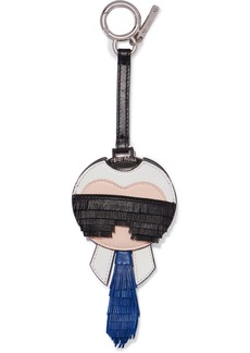 Fendi Karlito fringed leather bag charm