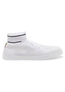 Fendi Knitted mid-top trainers