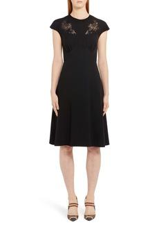 Fendi Lace Inset A-Line Dress