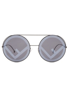 Fendi Large round-frame metal sunglasses