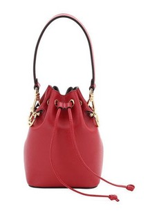 Fendi Leather Bucket Bag w/Crossbody Strap