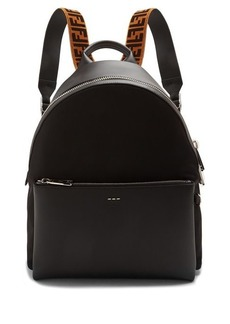 Fendi Leather logo-detail backpack