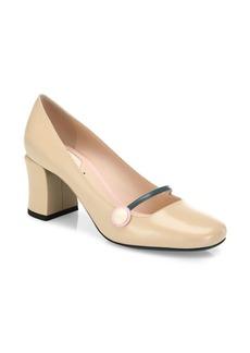 Fendi Leather Mary Jane Block-Heel Pumps
