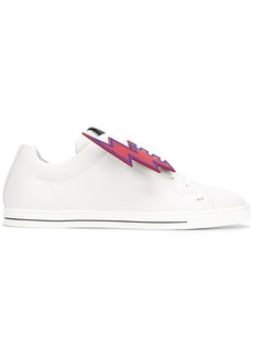 Fendi lightening tag face print trainers