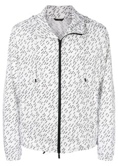 Fendi linear print lightweight jacket