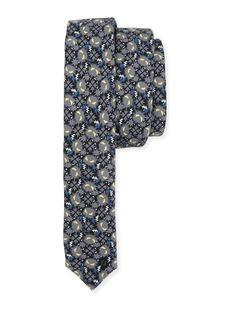 Fendi Little Monsters Skinny Tie