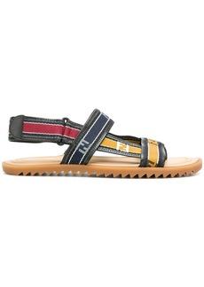 Fendi logo band sandals - Multicolour