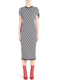 Fendi Logo Body-Con Dress