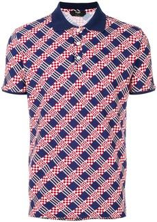 Fendi logo colour-block polo top - Blue