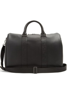 Fendi Logo-debossed leather holdall