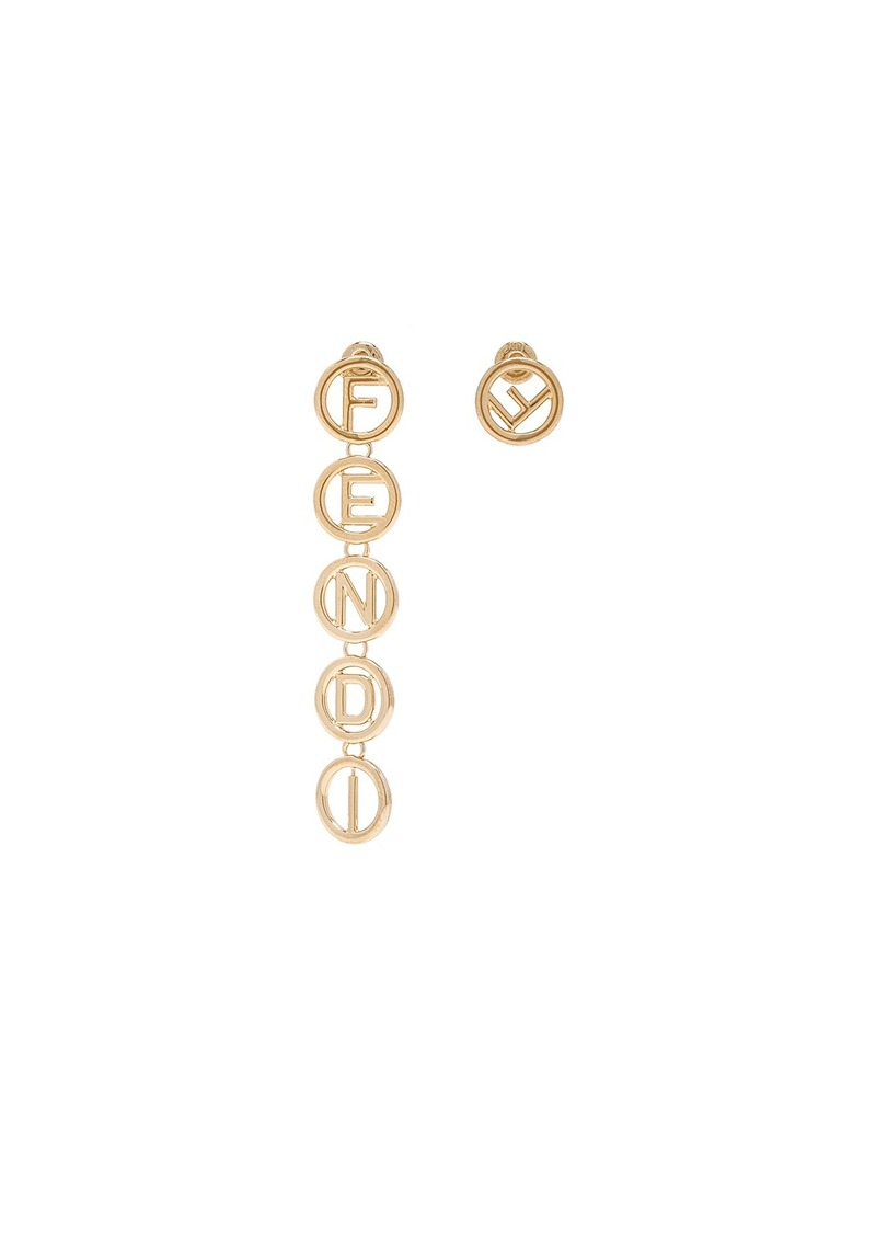 a77bbe58e7fd Fendi Fendi Logo Drop Earrings