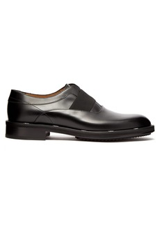Fendi Logo-edged leather oxford shoes