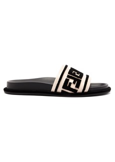 Fendi Logo-embellished leather slides