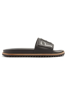 Fendi Logo-embellished rubber pool slides
